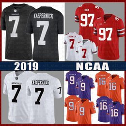 Rosso tom brady jersey online-Nick Bosa RED Dwayne Haskins Jr College Football Jersey NCAA 16 Trevor Lawrence 9 Travis Etienne Jr. Tom Brady Colin Kaepernick IM CON KAP