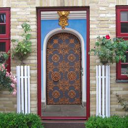 2pcs / set 3d musulman rétro autocollant de porte islamique autocollant ramadan décoration porte créatif étanche amovible ? partir de fabricateur
