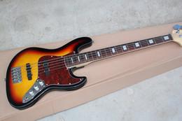 Schwarze gitarrenkörper online-Verkaufen Sie wie heiße Kuchen 5 Schnur-Baß-Gitarre, der schwarze Rand des orange Körpers, Preisverkauf ab Werk, freies Verschiffen!