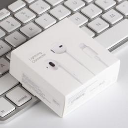 Lichtpakete online-Mfi ios beleuchtung kopfhörer in ohr kopfhörer für iphone 7 8 x mit kleinpaket beleuchtung anschluss kopfhörer