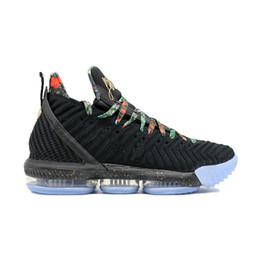 chaussures étoiles montantes Promotion 2019 All-Star 16 Regardez le trône Chaussures de basket-ball pour hommes 16s Noir métallisé Or Rose Frost Hommes Designer Baskets de sport