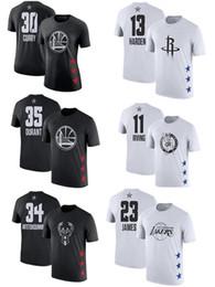 Camisetas george online-Camiseta Curry Black James Letters Covey Less Owen George Lillard Wade camiseta con nombre y número de estrellas 2019