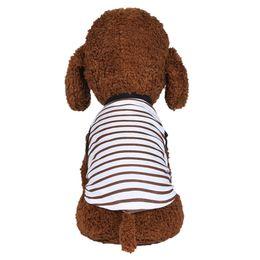 capas de almofadas de impressão de pavão Desconto Best Selling 2019 Produtos New Pet Vest Sunmmer Padrão de Listra Respirável Confortável Cão Gato Roupas Pet Vest Regular Moda Fronha