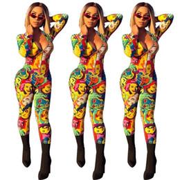 macacões famosos Desconto 2019 novo africano impressão elástico bazin calças largas sexy com decote em v estilo dashiki famoso macacão para lady roupas