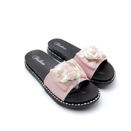 25bad94c9f1 2019 womens andals pink black glittery shoes hot fashion shoes with eva  bottom heeled sandal platform open toes hot sale version