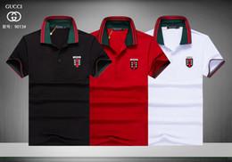 camisa de negocios bordado Rebajas Nuevo Polo de los hombres de Alta calidad # 1981 Moda de Algodón Bordado de Manga Corta Camisas Transpirables Polos Camisas de Verano Casual hombres de negocios