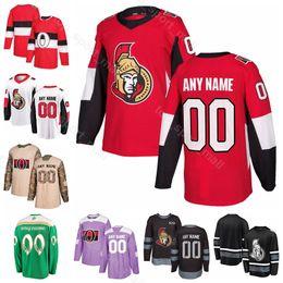 Ottawa senador jersey online-Hombres Mujeres jóvenes Ottawa Senadores Thomas Chabot Jersey Hockey personalizado Ryan Dzingel Chris Tierney Colin Blanco Bobby Ryan Rojo Blanco Negro