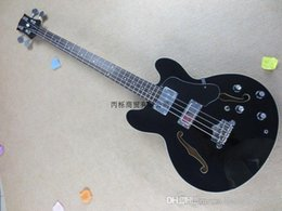 semi hollow basses Promo Codes - Free shipping Hot Seller New Arrival ES335 4 Strings Semi Hollow Black Jazz Bass High Quality Guitar Factory In Stock