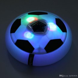 jogo guarda-chuva Desconto Hot Funny LED Light Flashing Ball Toys Air Power Soccer Disc Gliding Floating Football Game Indoor Toy Kids Chidren Gift Toys