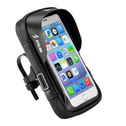 Подставки для мотоциклов онлайн-Горячая Водонепроницаемый Передний Велоспорт Велосипед Сумка Велосипедный Телефон GPS Держатель Стенд Мотоцикл Руль Крепление Сумка Велосипедные Аксессуары спортивные GPS телефон карман