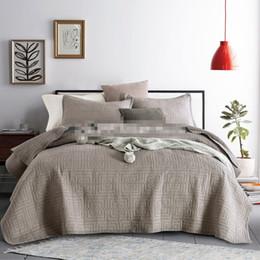 Canada Livraison gratuite style américain haut de gamme brodé plaid patchwork couette 100% coton complet / reine / lit king size couvre-lit AL cheap american bedspreads Offre