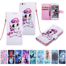 Etui portefeuille en cuir pour iphone X XR XSMAX Cheval Panda Tiger Butterfly Flip Cover Pour Samsung S10 S10e ? partir de fabricateur