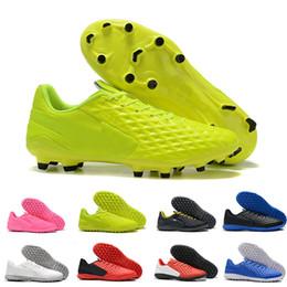 Argentina 2019 Tiempo Legend VIII FG Zapatos de fútbol Under The Radar Zapatos de fútbol para hombre baratos Triple Negro Blanco Rosa Verde Botas de fútbol Eur 39-45 cheap football boots pink Suministro