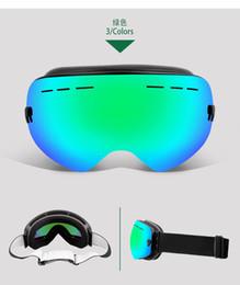 UV400 Doppelschichten Skibrille Anti-Fog-Skibrille Bergsteigerbrille Skifahren Männer Frauen Schnee Snowboardbrille von Fabrikanten