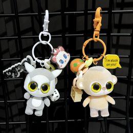 "Gran ojo mono de peluche online-2019 New Ty Beanie Boos Big Eyes Llavero de peluche Muñeca de juguete Perro Fox Owl Unicornio Pingüino Jirafa Mono Leopardo 4 ""10 cm"