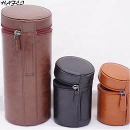 DSLR Cámara Lente Bolsa PU Funda de cuero adecuado para Canon Nikon Sony Pentax Fujifilm Tamron Lens Pocket Pounch Marrón Negro desde fabricantes