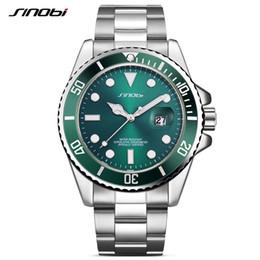 2019 сталь синови  SINOBI Classic Men Watches Mens Business Waterproof Quartz Wrist Watch Male Rotatable Stainless Steel Clock reloj hombre скидка сталь синови