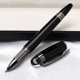 puntatore penna per ipad Sconti Promozione - penna Monte di alta qualità Star-waiker penna a sfera in resina nera penna a sfera penne stilografiche ufficio di cancelleria con numero di serie