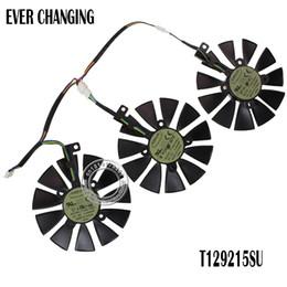 Asus ventiladores de resfriamento on-line-fã cartão de New 87mm Everflow T129215SU DC 12V 0.50AMP 4Pin 4 Fios ventilador de refrigeração para ASUS GTX980Ti R9 390x 390 GTX1070 Gráficos