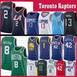 l basketball jerseys Coupons - NCAA Mens Kawhi 2 Leonard Paul 13 George Jersey D'Angelo 1 Russell Al 42 Horford Kemba 8 Walker Pascal 43 Siakam Kyle 7 Lowry College