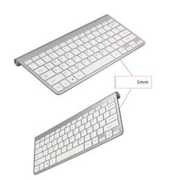 teclado de estilo livre Desconto 2019 NOVO Teclado Sem Fio Mouse Combo 2.4G Teclado Ultra-Fino Mouse Sem Fio para Teclado Apple Estilo Mac Win 7/8/10 Tv Box DHL Livre