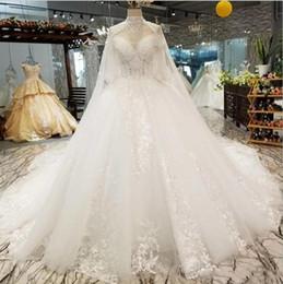 2019 Abito da ballo di lusso con impacco rimovibile Sweetheart Lace Appliqued Perline Perline Paillettes Sweep Train Robe De Mariée Abiti da sposa country da