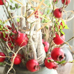 2019 trockenfruchtdekoration Simulierte Obst Granatapfel Dry Branch Obst Simulierte Blume Home Decoration Straße Induktion Wand Gefälschte Blume MW10884 rabatt trockenfruchtdekoration