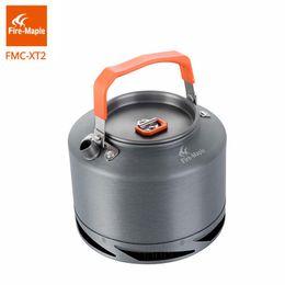 Fogo de bordo Caminhadas Chaleira Outdoor Camping Panelas troca de calor Pinic Chaleira Coffee Pot 1.5L com filtro FMC-XT2 de