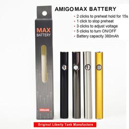 Câbles de tension en Ligne-510 fil batterie batterie stylo vape amigo max e cigarettes stylos vaporisateur tension variable 380mah préchauffer les batteries câble de chargeur USB d'origine