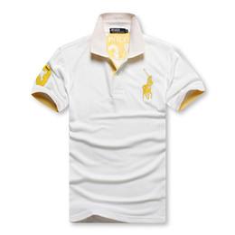 Polos hombres baratos online-2019 descuento PoloShirt hombres camiseta de manga corta Marca polo camisa hombres Dropship Barato mejor calidad negro reloj equipo de polo envío gratis