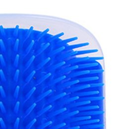 2019 papier spielzeug zug Blauer Haustierspielzeugkatzenecken-Juckreizmassager mit Farbwahlen des Katzenminzenkatzenmassage-Bürstenwerkzeugs zwei