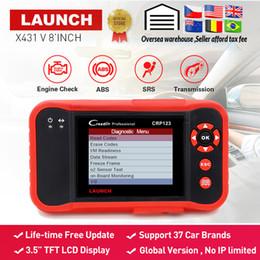 Lanzamiento X431 CRP123 lector de código obd2 Prueba de escáner Motor / ABS / SRS / AT X-431 Herramienta de diagnóstico automático CRP 123 actualización gratuita creader vii + desde fabricantes