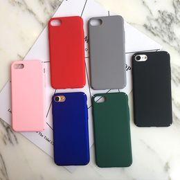 2019 iphone rojo negro funda silicona Estuche de plástico duro de silicona para teléfono iPhone X XS MAX XR Cubierta para iPhone 8 7 6 S 6S Plus Colorul Estuches ultra finos Rosa Negro Rojo Verde iphone rojo negro funda silicona baratos