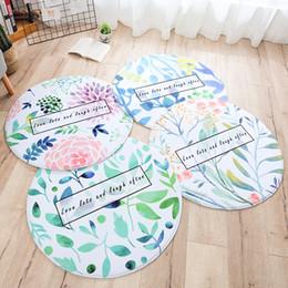 2019 tappetini decorativi Fashion Round Brief Plant serie Pink Gray Decorative Carpet Chair Baby Crawl Pad porta tappetino salotto Area Rug tappetini decorativi economici