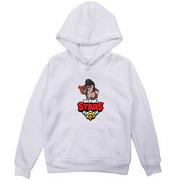 sudadera blanca bebé niña Rebajas Brawl Stars Niños Niñas Niños Sudaderas con capucha Prendas de abrigo Blanco Rojo Negro Gris Con capucha para niños pequeños Sudadera para bebés Ropa para niños 2-9Years