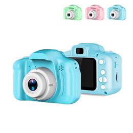 Caméras 1,8 pouces en Ligne-2 Pouce HD Écran Chargable Mini Caméra Numérique Enfants de Bande Dessinée Mignon Caméra Jouets En Plein Air Photographie Props pour Enfants Cadeau D'anniversaire