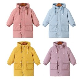 korean kids clothes down Coupons - Warm coats Winter clothes Long Down Jacket Kids Korean Thick Hooded Jacket Baby Boys& Girls Snowsuit Winter Jacket Kids parka