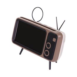 2019 supporto altoparlante bluetooth tf Altoparlante Bluetooth PTH800 Portatile Retro TV senza fili Mini Bluetooth Altoparlanti Super Bass Supporto per telefono Supporto TF Card U Disk sconti supporto altoparlante bluetooth tf