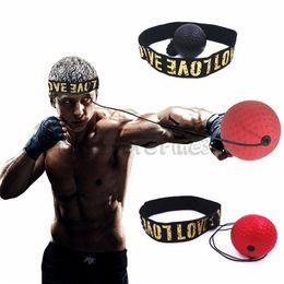 Palle di reazione online-Boxing Reflex Speed Punch Ball Stress Balls Giocattoli MMA Sanda Boxer Raising Reaction Force Mano Eye Training Set Stress Muay Thai Exercise