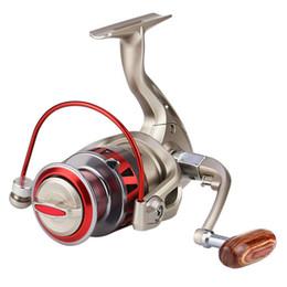 Carretes de brazo online-10BB Spinning Fishing Reel Zinc Alloy Gear Placa L / R Replegable de metal Rocker Arm pesca carretes