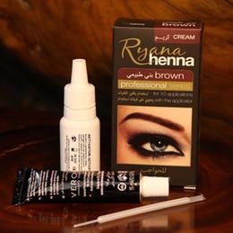 Ryana Henna Natural Eyebrow Eyelash Professionelles Farbtönungscreme Set, 15 minütiges, schnelles Tönungsbraun Schwarz