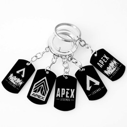 keychain games Coupons - Apex Legends Keychain Stainless steel Hot PS4 Game Fans Souvenir Back Color White logo Fashion Men Women Jewelry Friend Gifts