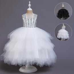 Trajes de piano online-Los niños desfiles niñas vestidos de gasa fleabane amargo amargo del fleabane trajes de piano presidida pequeña princesa flor del vestido de la nueva