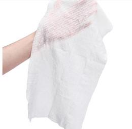 Komprimierte wischtücher online-10 stücke komprimiert handtuch im freien reise abwischen weicher baumwolle vliesstoff erweiterbar gerade hinzufügen wasser