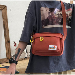 2020 bolsa macia coreia Coréia Meninas Contraste Messenger Bag Mulheres estudante de artes pouco mole Irmã Bolsa Outdoor Bandoleira Sacos Casual Tote Handbag bolsa macia coreia barato