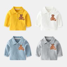 Säuglingst-shirts online-Jungen t-shirts streetwear baby boy weißes hemd t-shirts langarm baumwolle frühling herbst kleidung säuglings top
