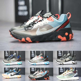 Canada nike Epic React Element 87 Air React Element 87 chaussures de running pour hommes femmes blanc noir NEPTUNE GREEN bleu mens formateur designer respirant sport baskets taille F5242 Offre