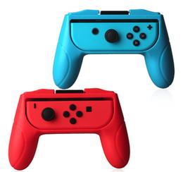 pequeños botones de interruptor Rebajas Apretones para Nintendo Switch Joy Con Controller Juego de 2 mangos Asideros de mano Kits Soporte Soporte Soporte Shell