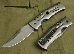 Strumenti bk online-vendita calda EDC coltello da tasca in acciaio DA4 maniglia B37 maniglia in alluminio Lama piegante di campeggio 55HRC 3CR13blade BK UTENSILI
