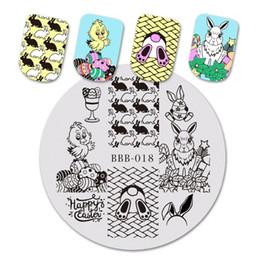 BeautyBigBang 5.6 * 5.6cm Estampage pour ongles Festival Oeuf de Pâques Lapin Nail Art Modèle de pochoirs pour timbres Estampage BBB-018 ? partir de fabricateur